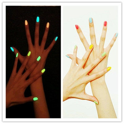 12 Color cute candy colors Luminous Nail Polish 8ml ... | Tophatter