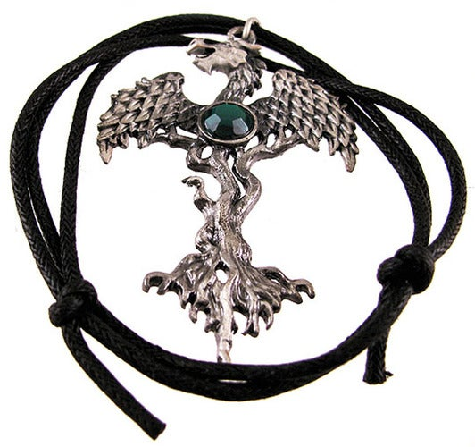 Zeckos - `The Dragon Tree` Pewter Pendant / Necklace Forest