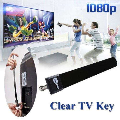 New TOP Clear TV Key HDTV FREE TV Digital Indoor Antenna Ditch Cable As Seen on TV)