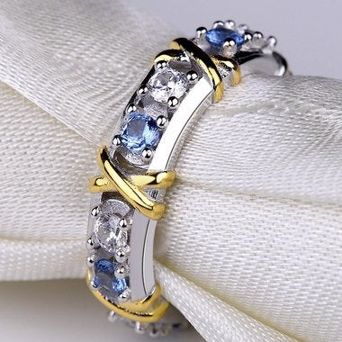 Jewelry Blue Women Diamonique Wedding Ring