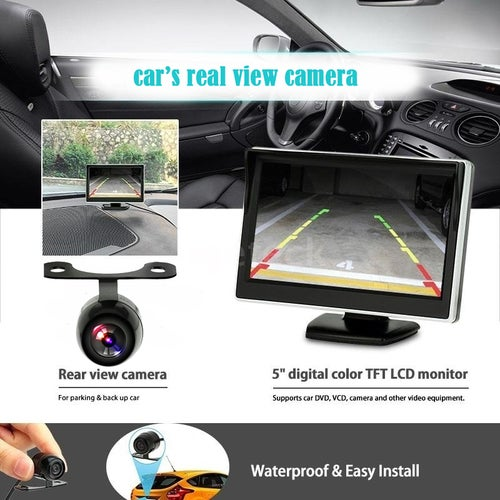 Car Rear View Camera 170 Butterfly Night Vision Reverse Monitor