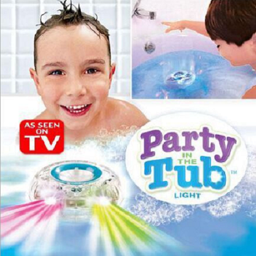 Creative Waterproof Colorful Bathroom LED Light Toys Funny Bathing Toys for Kid in the Tub