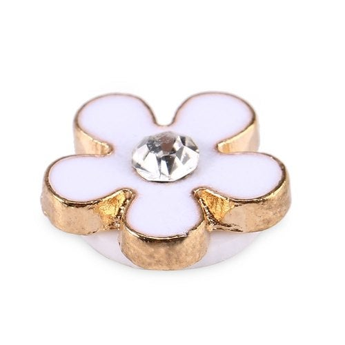 Small Fresh Style Alloy Flower Shape Home Sticker for iPhone