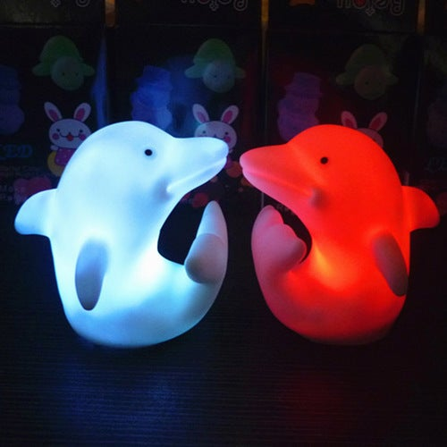 Creative Cute LED Dolphin 7 Colours Night light Lamp Party Christmas Decoration Colorful