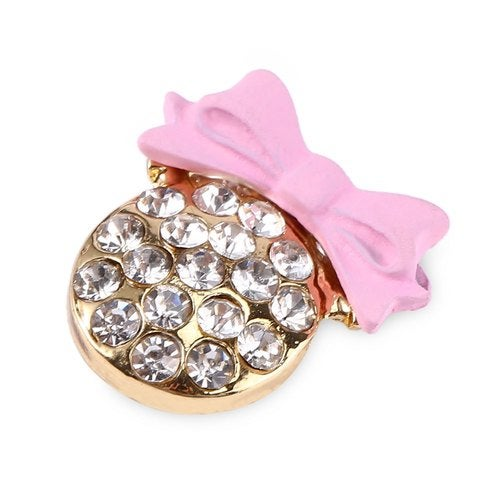 Spray Painting Small Bow Lovely Rhinestone Shape Home Sticker for iPhone