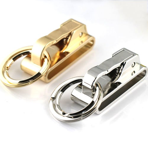 Keychain Key Chain Design Home Metal Craft New Spring Buckle Clip on Belt Double Loops