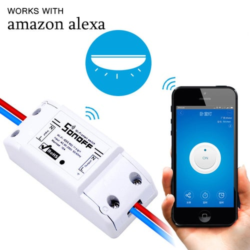 Sonoff eWelink Phone APP WiFi 2.4GHz Smart LED Switch Remote Controller, Support Alexa Echo & Google Home Voice Control, AC 90-250V