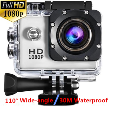 HD 1080P Sport Camera Diving 30 Meter Waterproof Camera Mini DVR Camcorder Helme