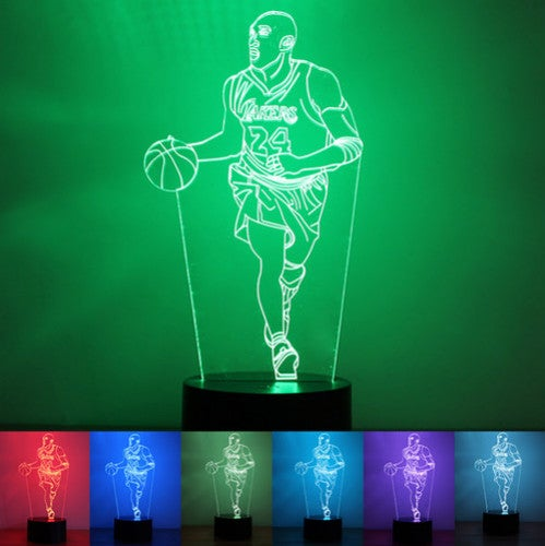 Kobe Bryant 3D Night Light LED illusion Lamp 7 Color Touch Switch Table Desk Lamp