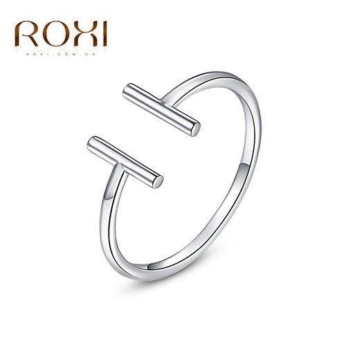 Platinum Double T-shaped ring