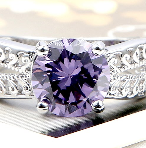 Beautiful Amethyst Sterling Silver 925 Ring