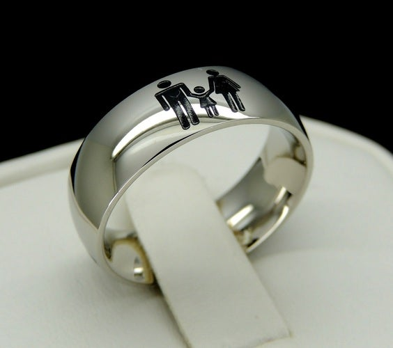 Family United  Ring Solid Steel unisex