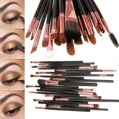 Professional 20Pcs Makeup Brushes Set Eyeshadow Eyeliner Powder Foundation Brush