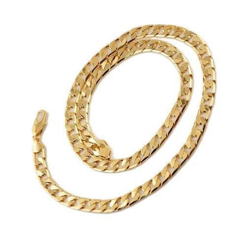 14kt Yellow Gold Filled Cuban Curb Chain 24 Inches 8 mm Chain