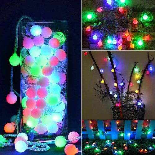AA Battery LED String Lights 2M 20 LED Crystal Ball Globle Christmas Fairy Lights For Holiday Party Garden Path Home Decoration