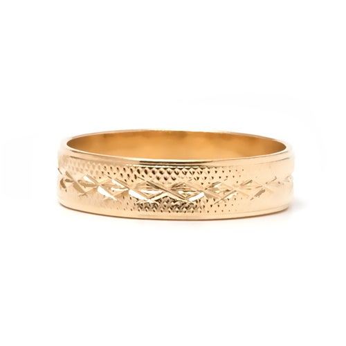 Yellow Gold Filled Engraved Gold Ring