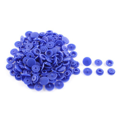 Home Dark Blue Sewing Poppers Snap Clothing Craft Press Fastener Buttons 50 Pcs