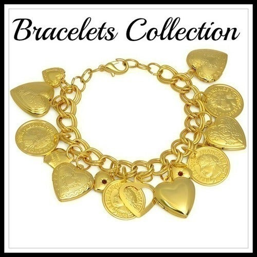 14k Yellow Gold Filled, Beautifully Created Fine Ruby Bracelet Sm804