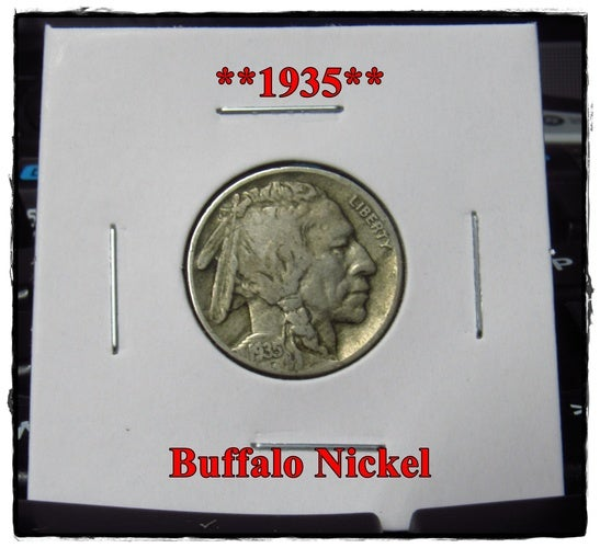 ★★1935★★ 83 Years Old ★★ Buffalo Nickel  - Rare and Authentic - Full Date