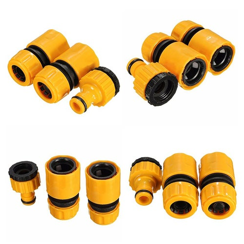 3Pcs 1/2Inch 3/4Inch Garden Water Hose Pipe Fitting Quick Tap Connector Adaptor