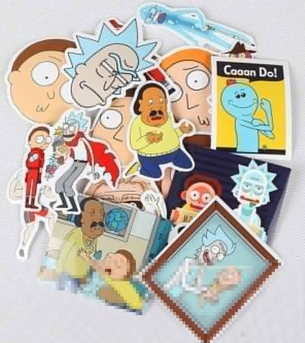 35Pcs Drama Rick and Morty Stickers Decal for Snowboard Laptop Luggage Car Fridge DIY Styling Vinyl Home Decor