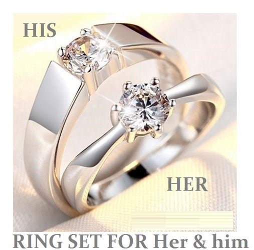 Couple Ring Set For Her & Him   ( both ring included)
