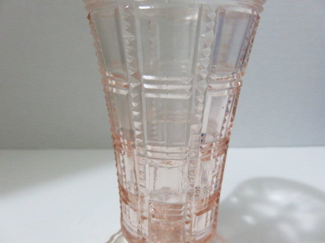 Pink Depression Glass Vase Tophatter