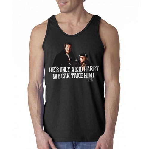 Home Alone We Can Take Him Quote Men's Black Tank Top