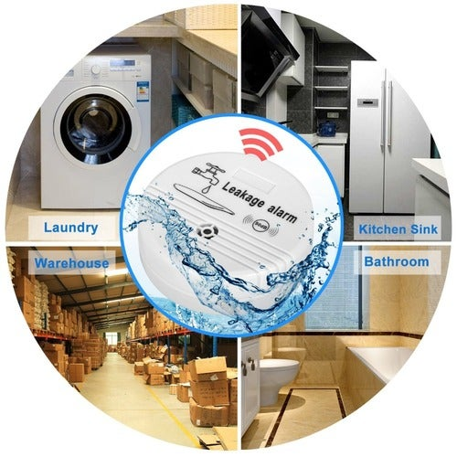 Wireless Water Overflow Leakage Alarm Sensor Detector 90dB Voice Work Alone Water Level Alarm Home Security Alarm System