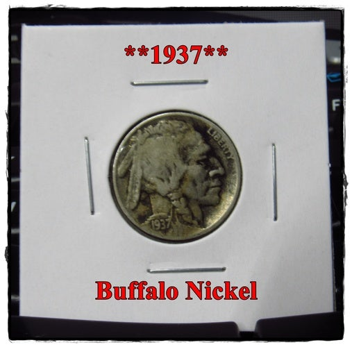 ★★1937★★ 81 Years Old ★★  Buffalo Nickel  - Rare and Authentic - Full Date