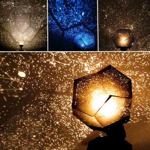 1 Pcs 3 Colors Romantic Astro Star Sky Laser Projector Cosmos Night Light Lamp Gift