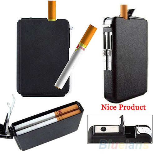 Hot Selling Automatic Lighter Pocket Ejection Butane Cigarette Case