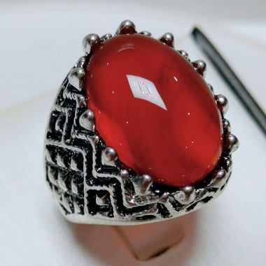 Jewelry Men Women Retro, Ruby classical Ring