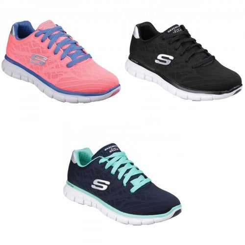 54d52173eae8 Skechers Womens Ladies Synergy Moonlight Madness Tra...