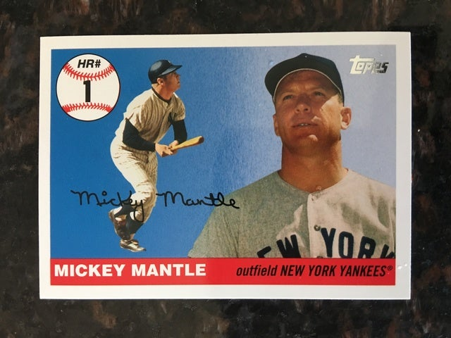 2006 Mickey Mantle Topps Home Run # MHR 1