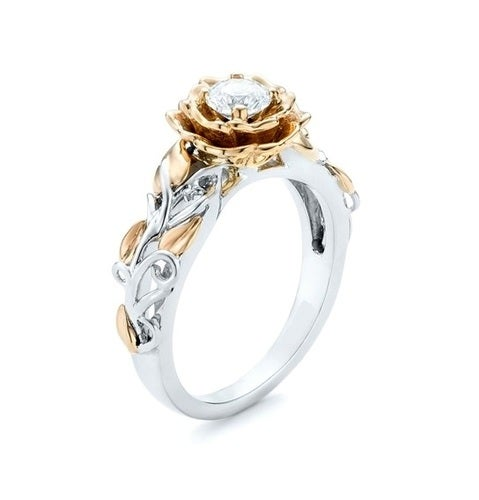 Brilliant Rose and White  Gold filled ring