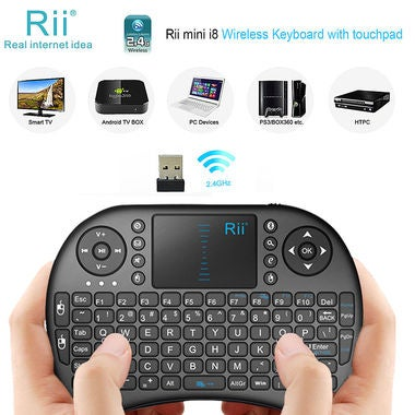 Genuine Rii i8+ 2.4Ghz Wireless Mini Keyboard + Mouse Touchpad Backlight  For Sm