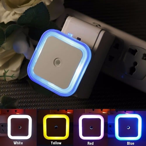 Romantic Square Colorful 0.5W US EU LED Night Light Wall Lamp Bedroom Home Kids Children Wedding Party Decoration 4 Colors