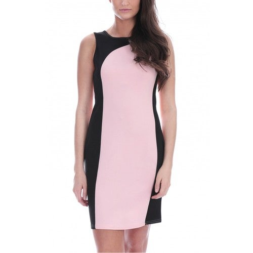 Color Block Pastel Tunic Dress Your Choice Of color and Size