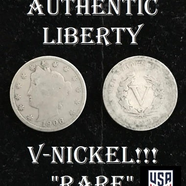 RARE! - AUTHENTIC Liberty V-Nickel Coin!!!! - VERY OLD!! - USA SELLER!!!