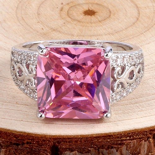 Gorgeous Pink Topaz Sterling Silver 925 Ring