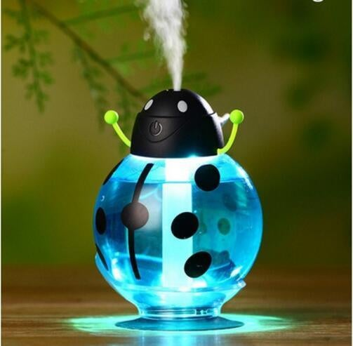 Lovely Cartoon Beatles Home Car Aroma LED Humidifier Air Diffuser Purifier Atomizer