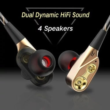 CN In-Ear Earbud Headphones with High Definition Dual Dynamic Driver High-fideli