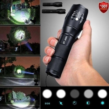 Powerful 10000LM CREE Q5 LED Flashlight 5 Mode Zoomable Waterproof Torch Outdoor