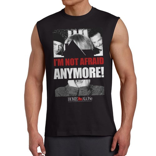 Home Alone I'm Not Afraid Anymore Quote Men's Black Sleeveless