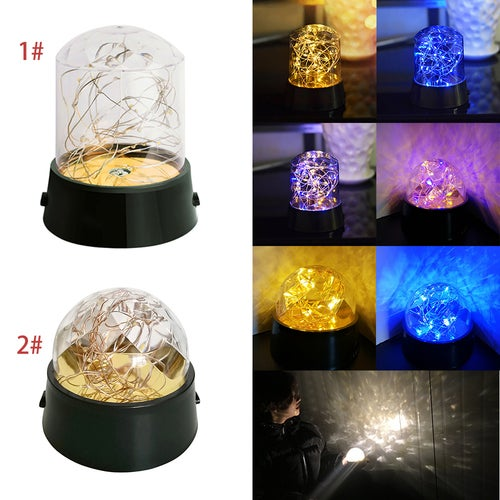 Romantic Double color LED night light LED copper wire string light 3x AA battery USB Starlight projector night light Home Shopwindow Christmas Decor