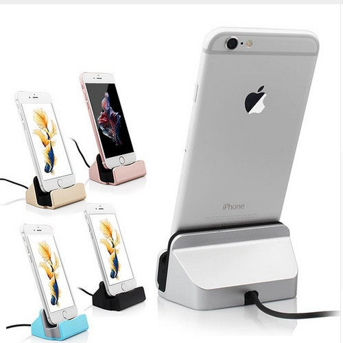 iphone dock sync stand for iphone 5 5s 6 6s 6 plus 7 pink