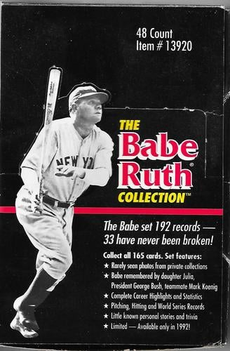 2 1992 The Babe Ruth Collection Limited Edition 10 Card Sealed Wax Packs 20 Cards Total Youre Bidding For Both Packs Only Available