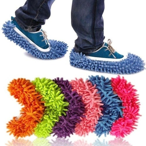 Relaxed Lazyboots Mopping Chenille Home Adult's Cleaning Slippers Shoe Cover(1 Pair)