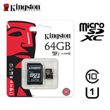 Genuine Kingston 64GB Micro SD SDHC / SDXC Class10 Memory Card TF 45MB /s R with